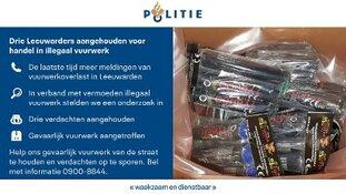 Drie Leeuwarders aangehouden voor handel in illegaal vuurwerk